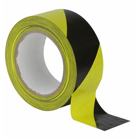 Floor-Marking tape 50 mm - Black/Yellow, 50mm / 33m