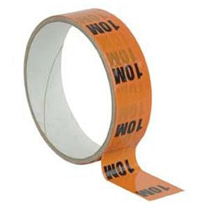 "Markertape 25 mm/33 m - ""10 m"" indicator, Red"