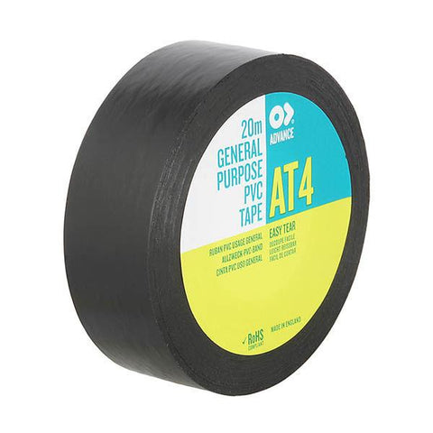PVC Tape Advance AT4 - 19 mm/ 20m, Black