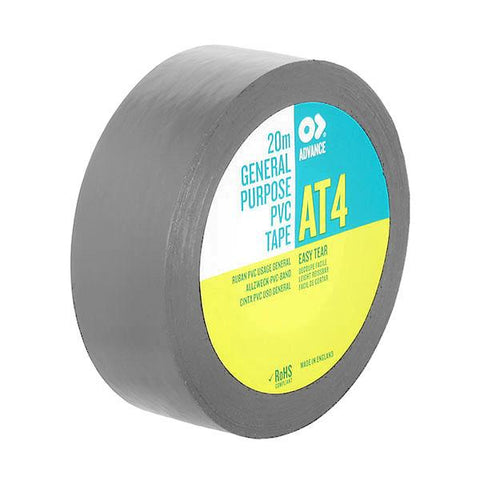 PVC Tape Advance AT4 - 19 mm/ 20m, Grey