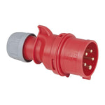 CEE 16A 400V 5p Plug Male - Red, IP44
