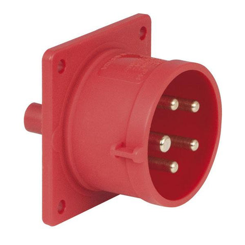CEE 16A 400V 5p Socket Male - Red, IP44