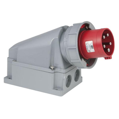 CEE 63A 400V 5p Wallmount Male - Red, IP67