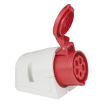 CEE 16A 400V 5p Wallmount Female - Red, IP44