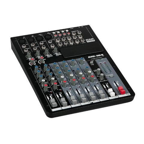 GIG-104C 10 Channel live mixer incl. dynamics