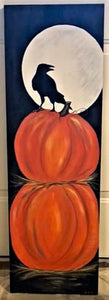 THURSDAY OCTOBER 17 The Crow in the Moon on a Couple of Pumpkins Painting Class