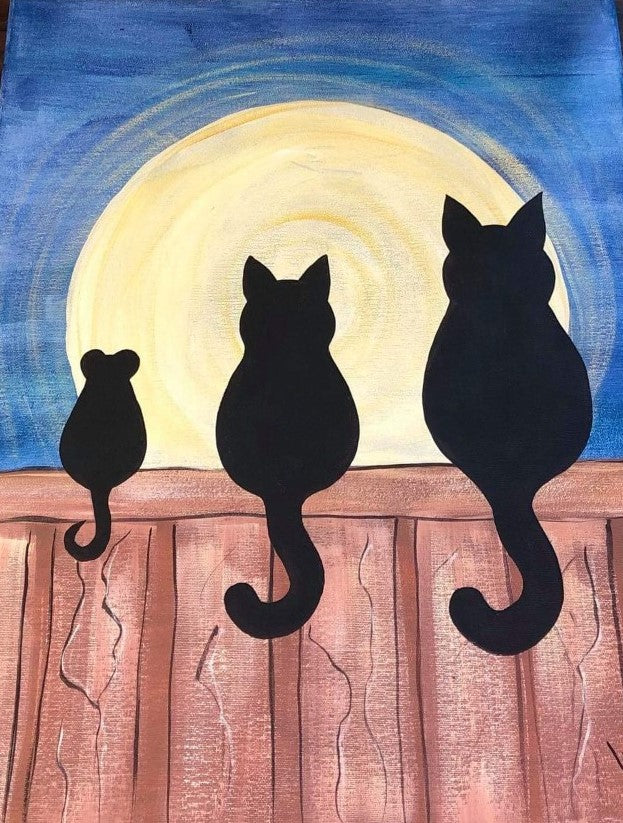 SATURDAY SEPTEMBER 7  THREE SILHOUETTES Painting Class