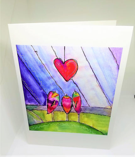 Love Above Greeting Card