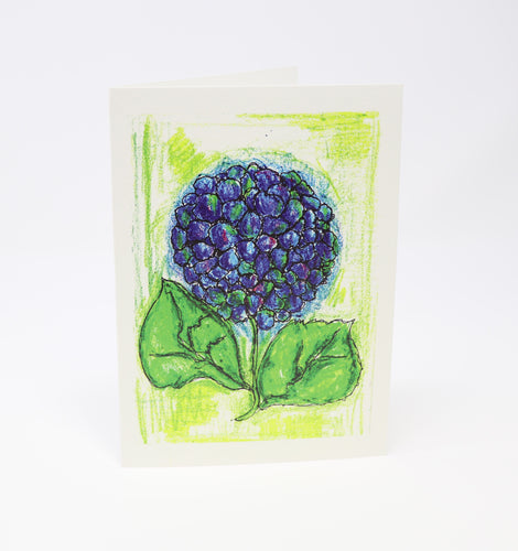 Blue Hydrangea Greeting Card