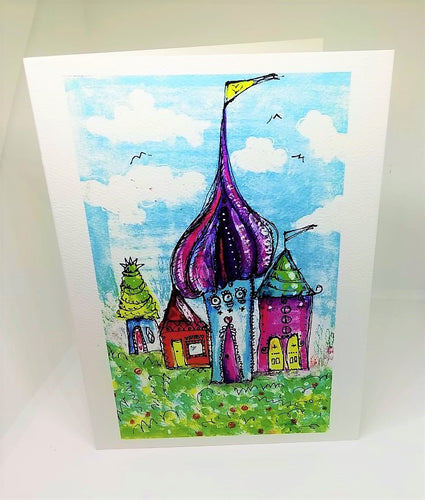 Little Elf Houses Greeting Card