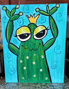 WEDNESDAY AUGUST 7 ----         KIDS ART CLASS - FROG