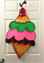 Load image into Gallery viewer, TUESDAY AUGUST 6 Ice Cream Cone Front Door Art