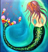 WEDNESDAY JANUARY 8 Let's Paint a MERMAID at the Moonrise Brewing Company!