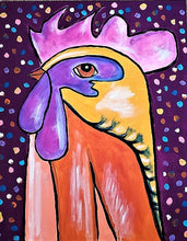 Load image into Gallery viewer, THURSDAY AUGUST 8 Whimsical ROOSTER Painting Class