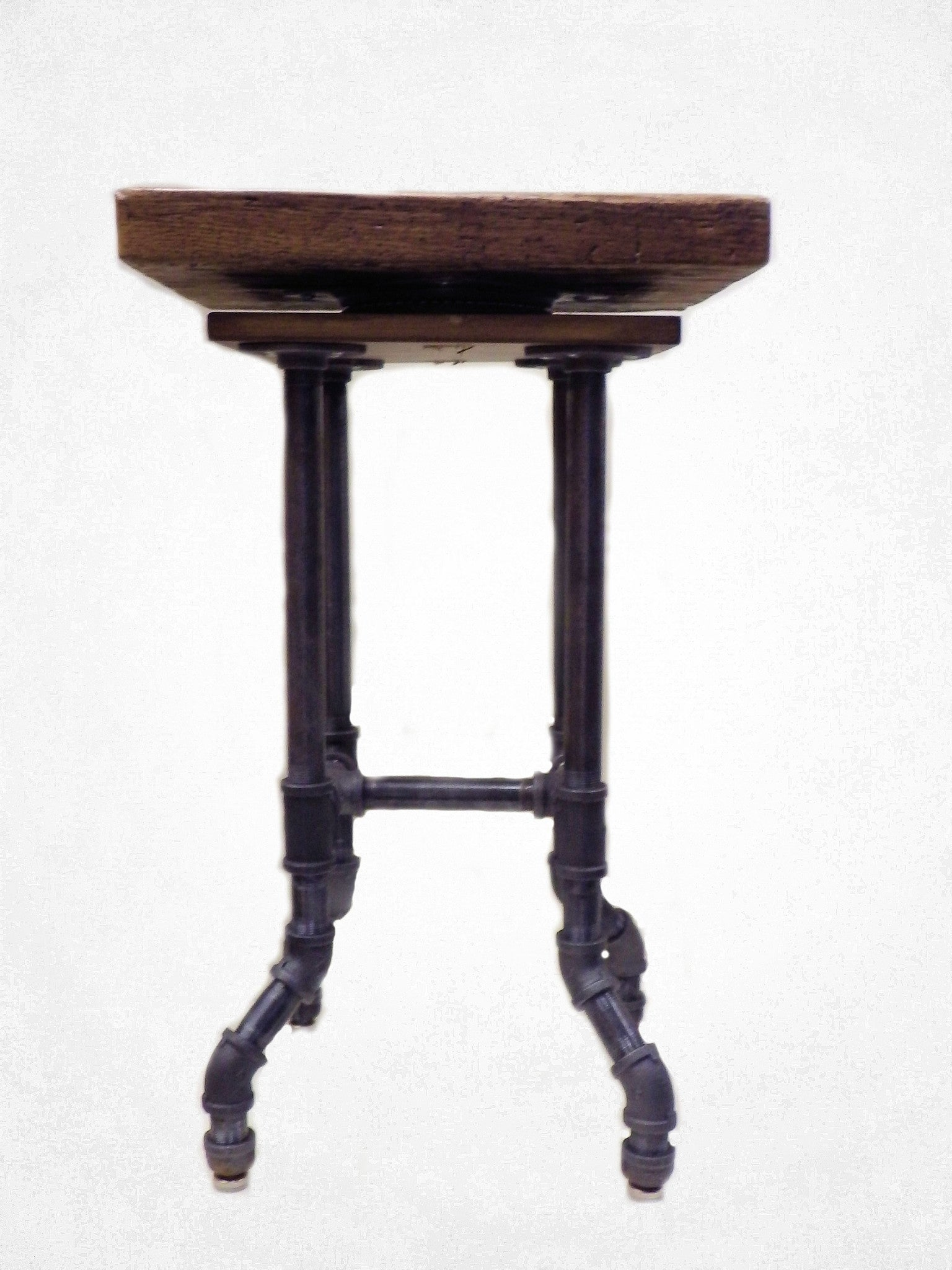 Industrial Swivel Top Bar Stool