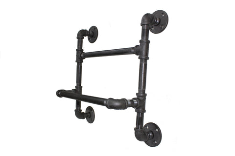 Industrial Double towel rack