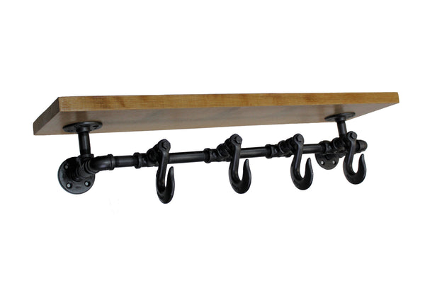 Clevis Hook Coat Rack Shelf