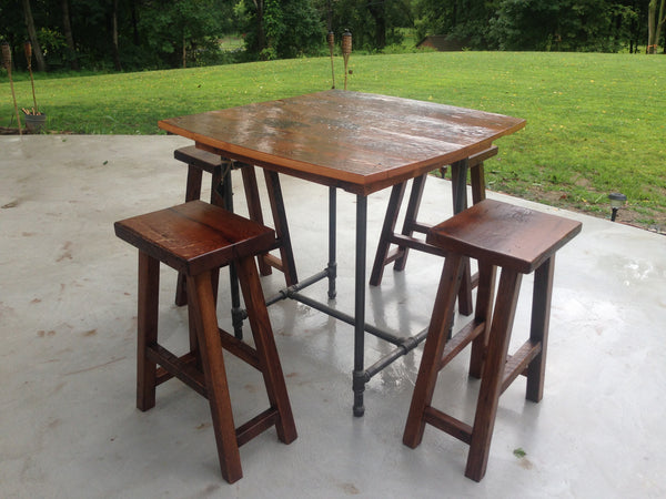 Industrial Reclaimed Bar Table