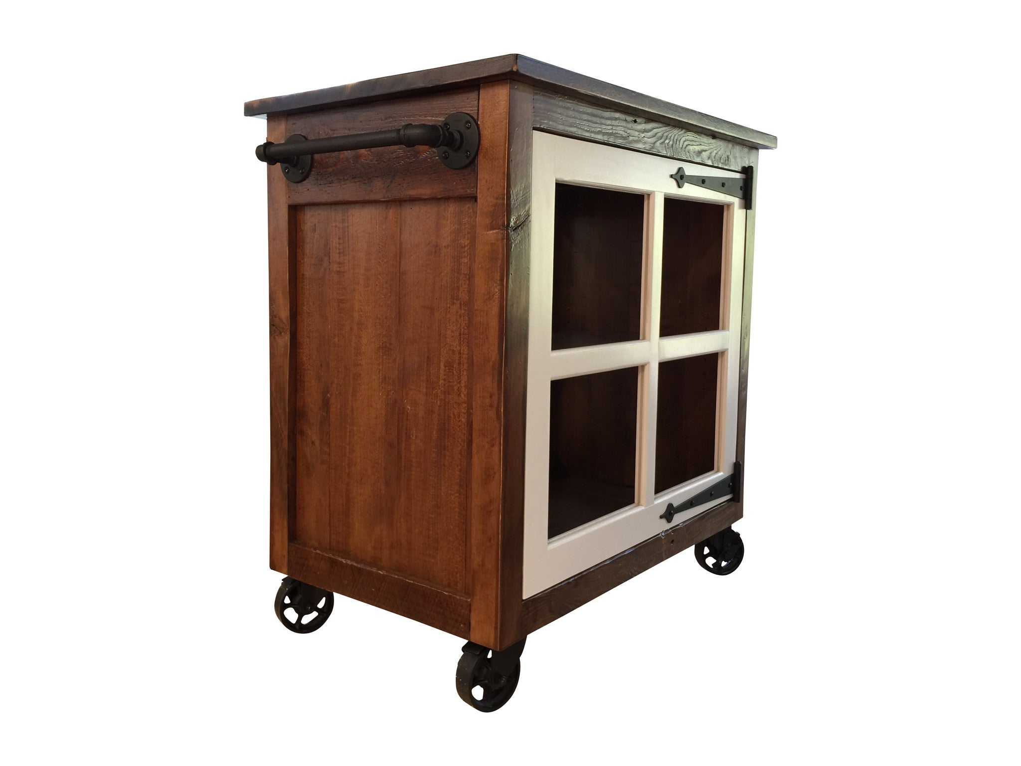 Small Rolling Kitchen Island Reclaimed Art