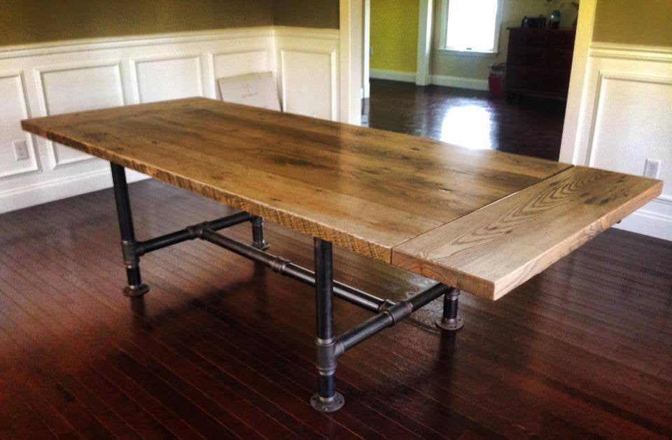 Kitchen Table With Metal Pipe Legs Reclaimed Art