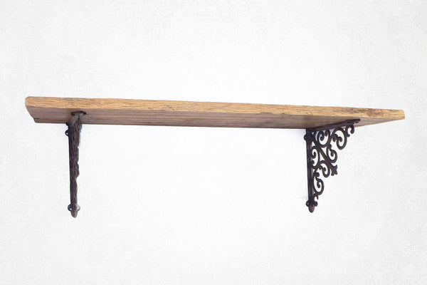 Reclaimed Metal Bracket Shelf