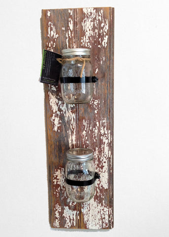 Double Mason Jar Wall Sconce