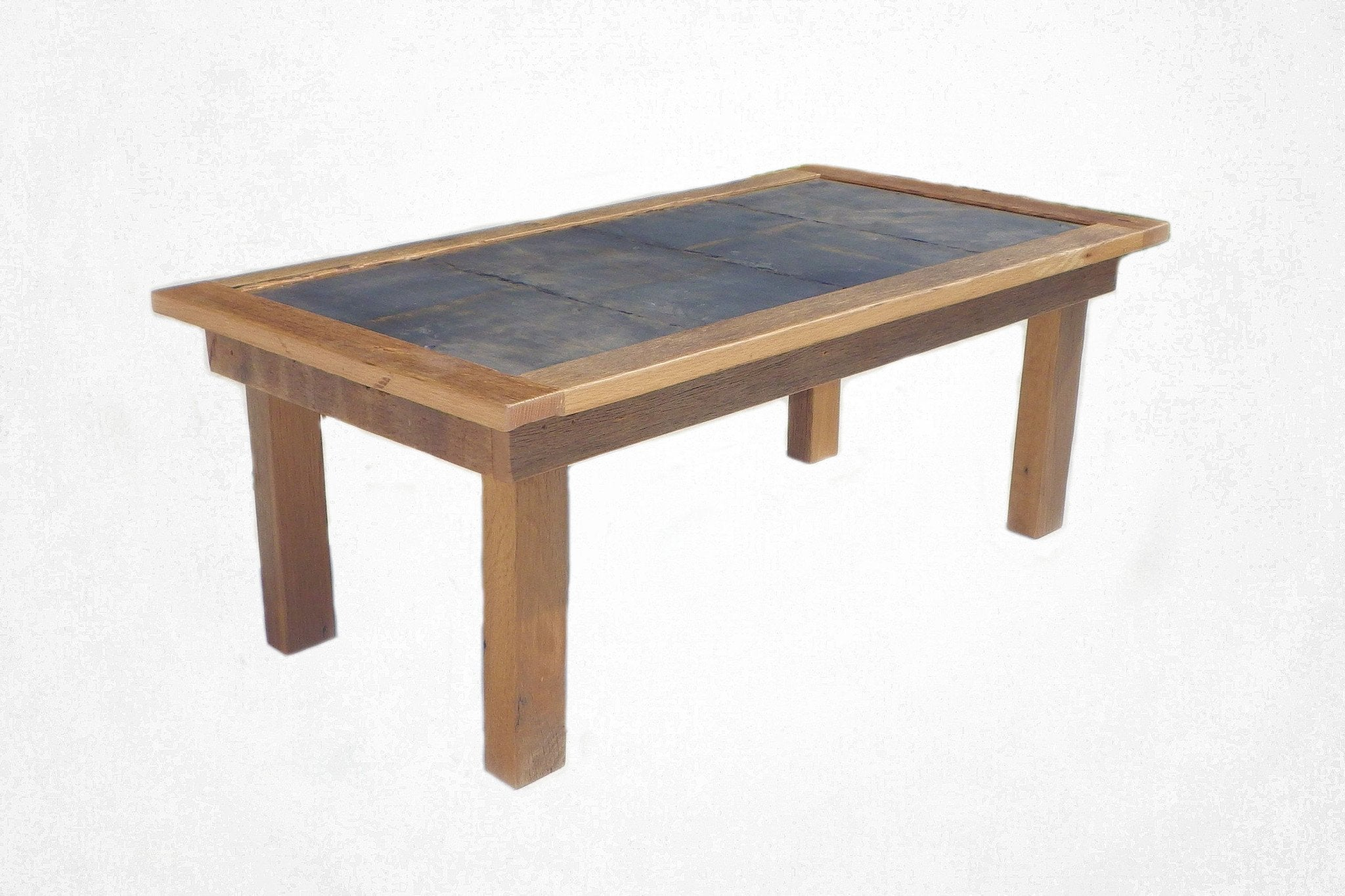Slate Top Coffee Table – Reclaimed Art
