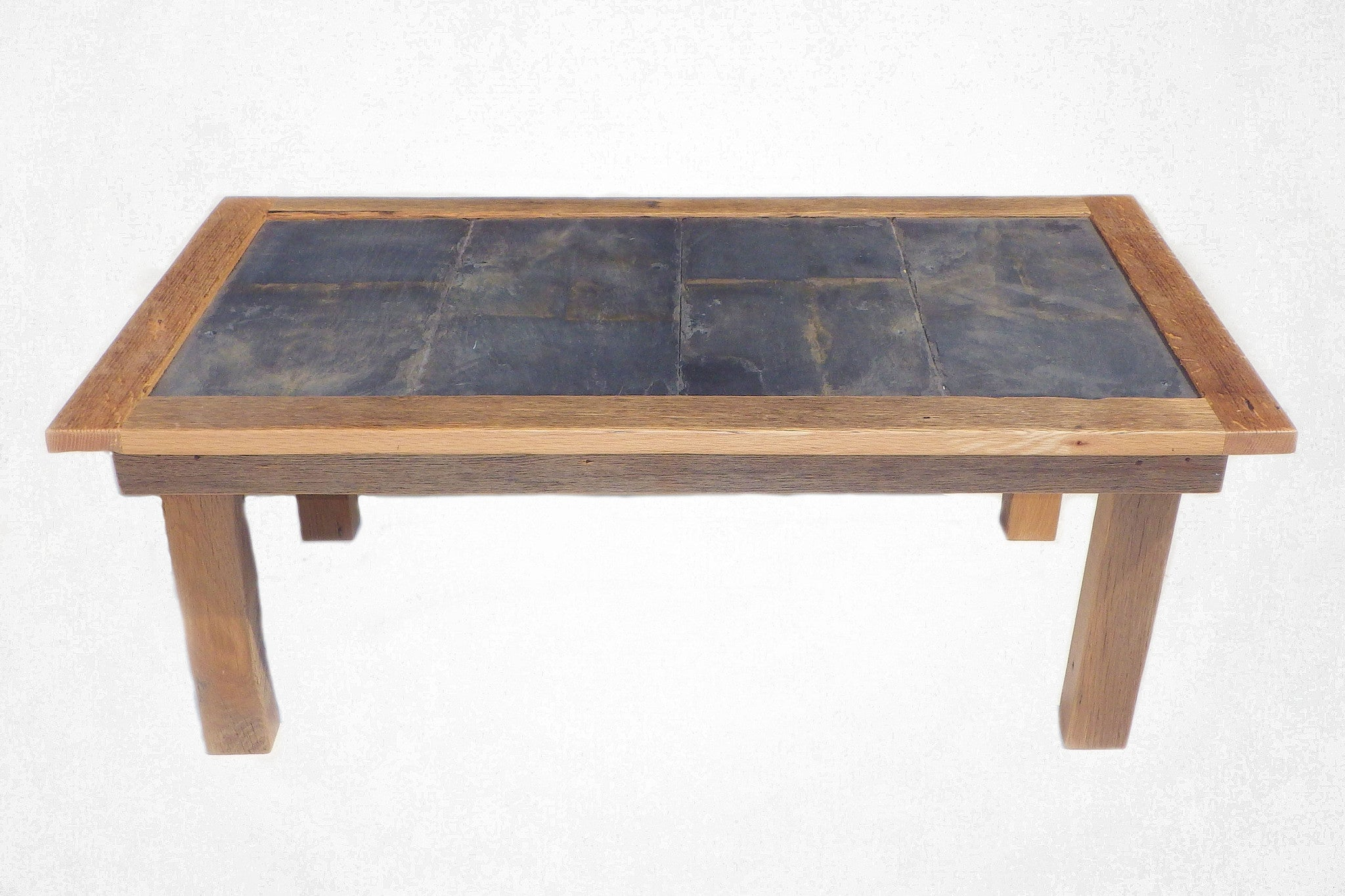Slate top coffee table reclaimed art Slate top coffee tables