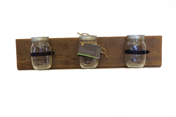 Triple Mason Jar Wall Sconce