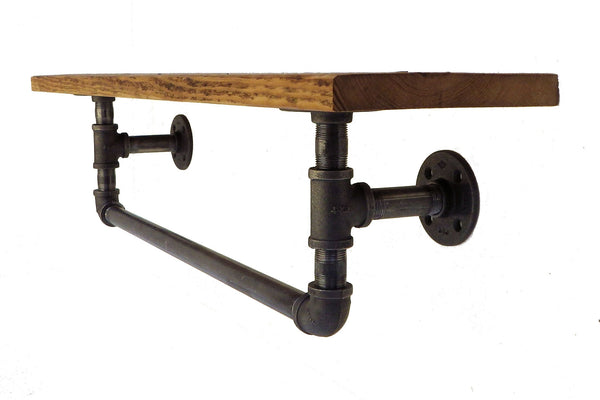 Industrial Towel Rack With Shelf