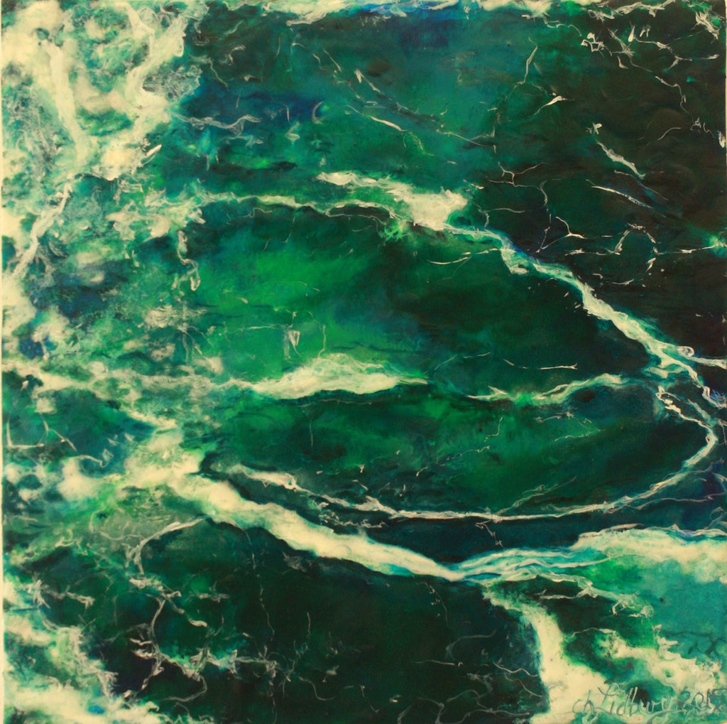 Encaustic and Oil Wall Art by Cherie Lidbury