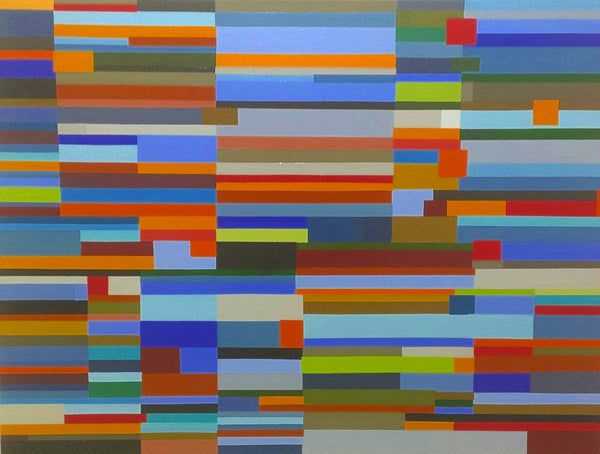 Geometric Landscape Painting by Mary Shackman