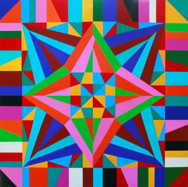 Geometric Abstract Wall Art by Mary Shackman