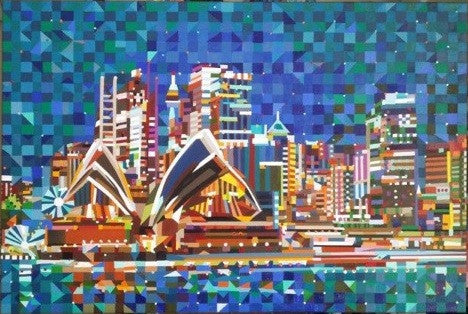 Sydney Opera House Painting by Mary Shackman