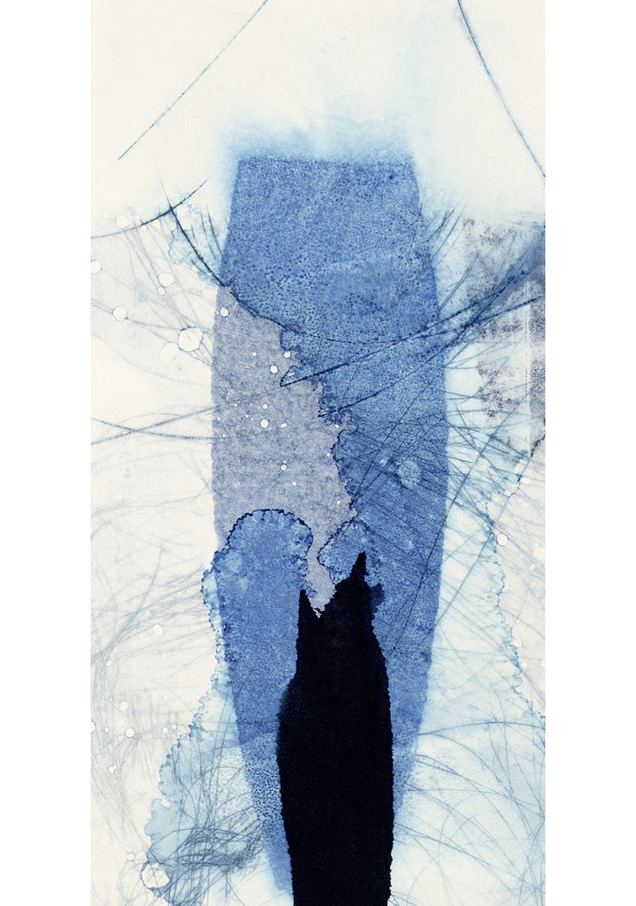 Abstract Monotype on Paper by Gabrielle Soulsby