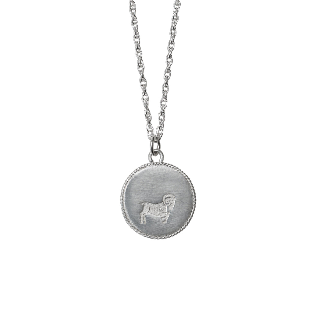 sterling silver Aries star sign zodiac necklace by stevie jean jewellery