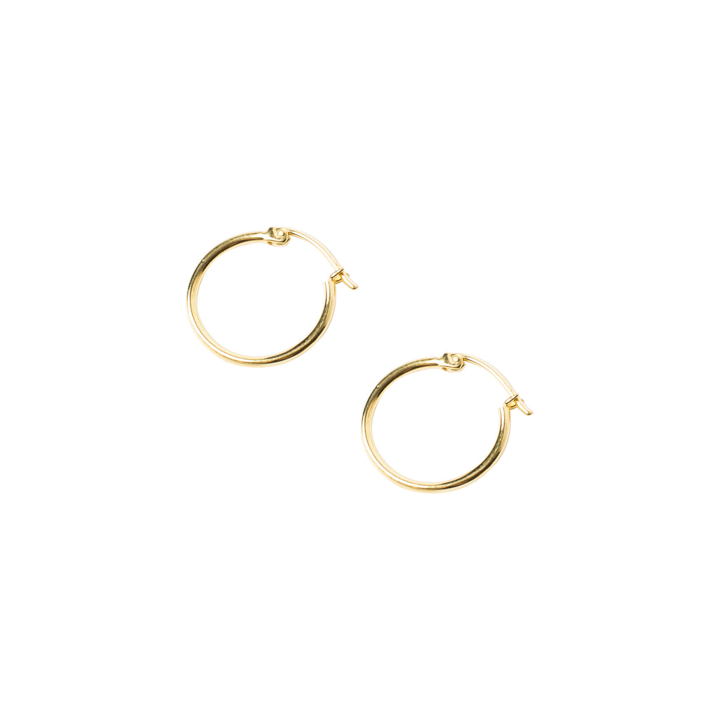 Angie Hoops Medium Gold