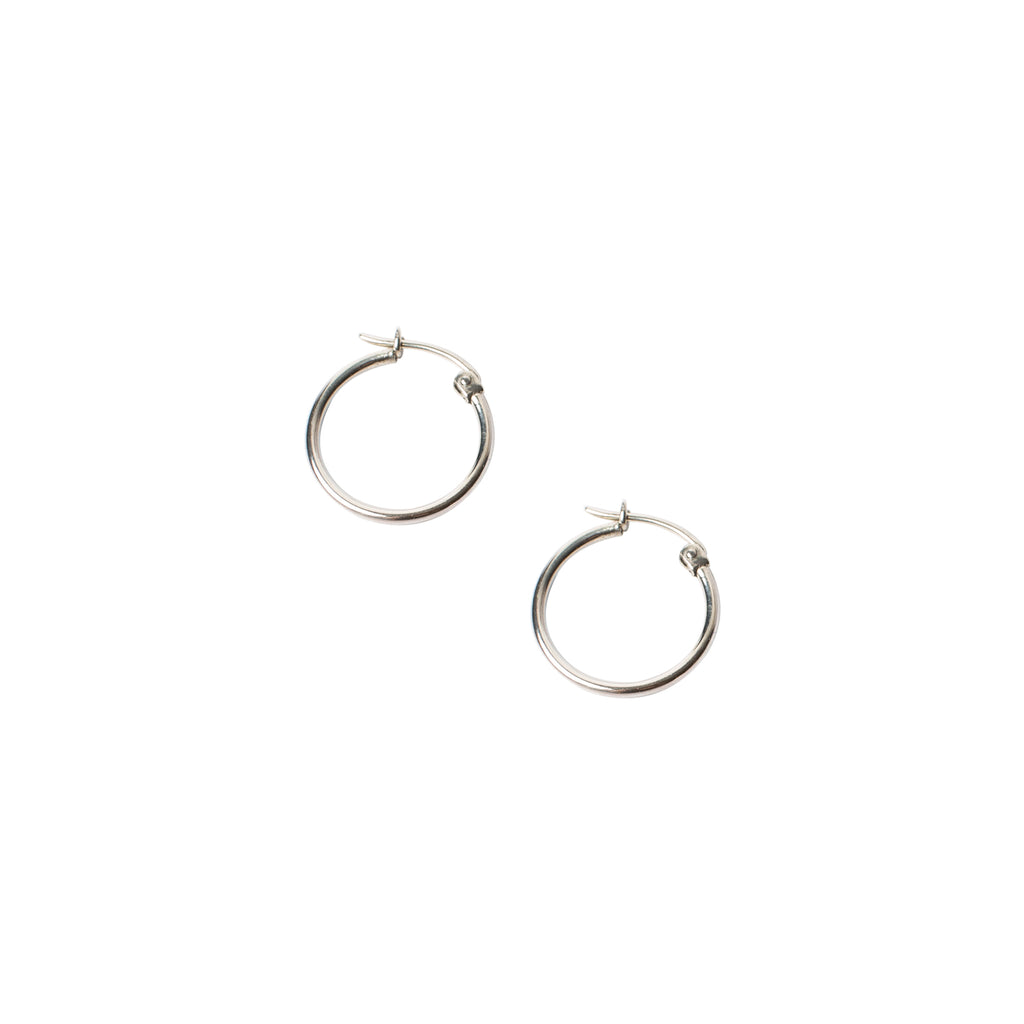 sterling silver hoops by wild heart jewellery