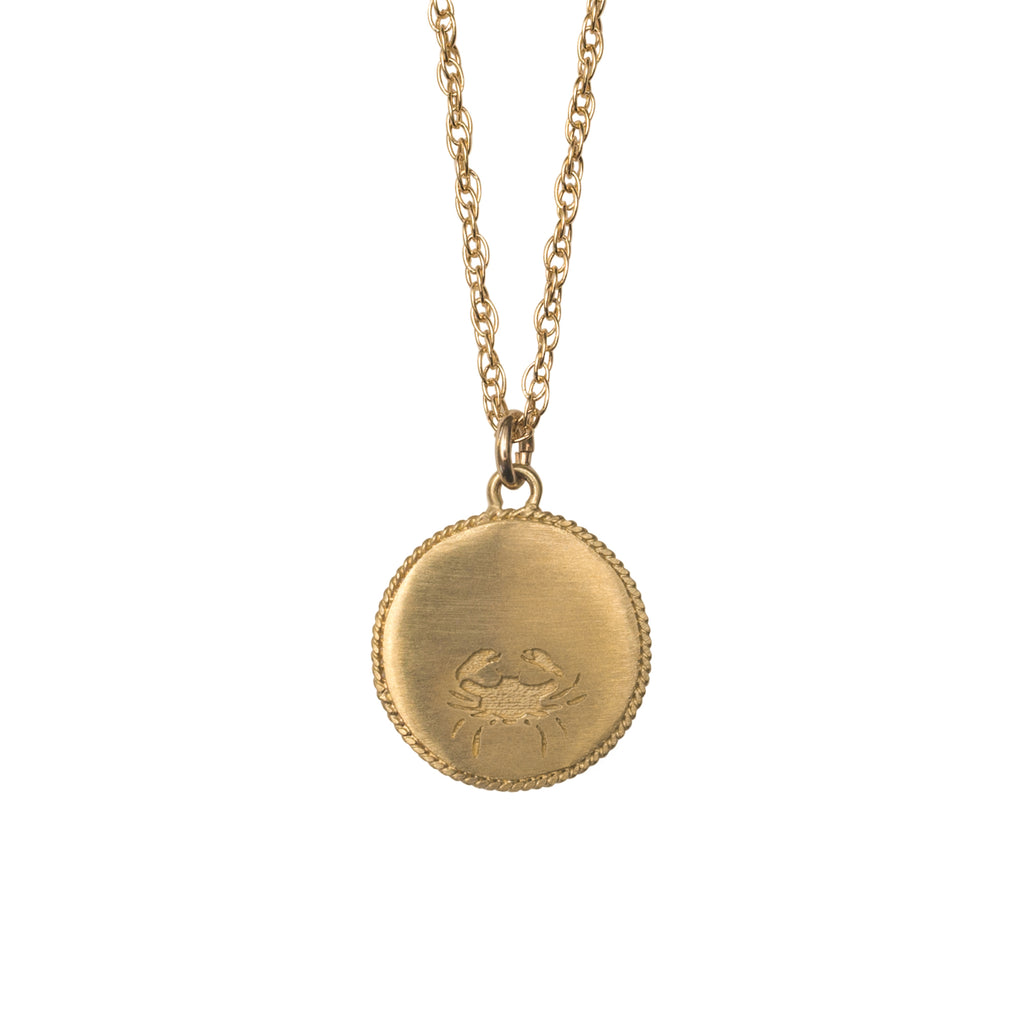 Stardust Cancer Necklace Gold