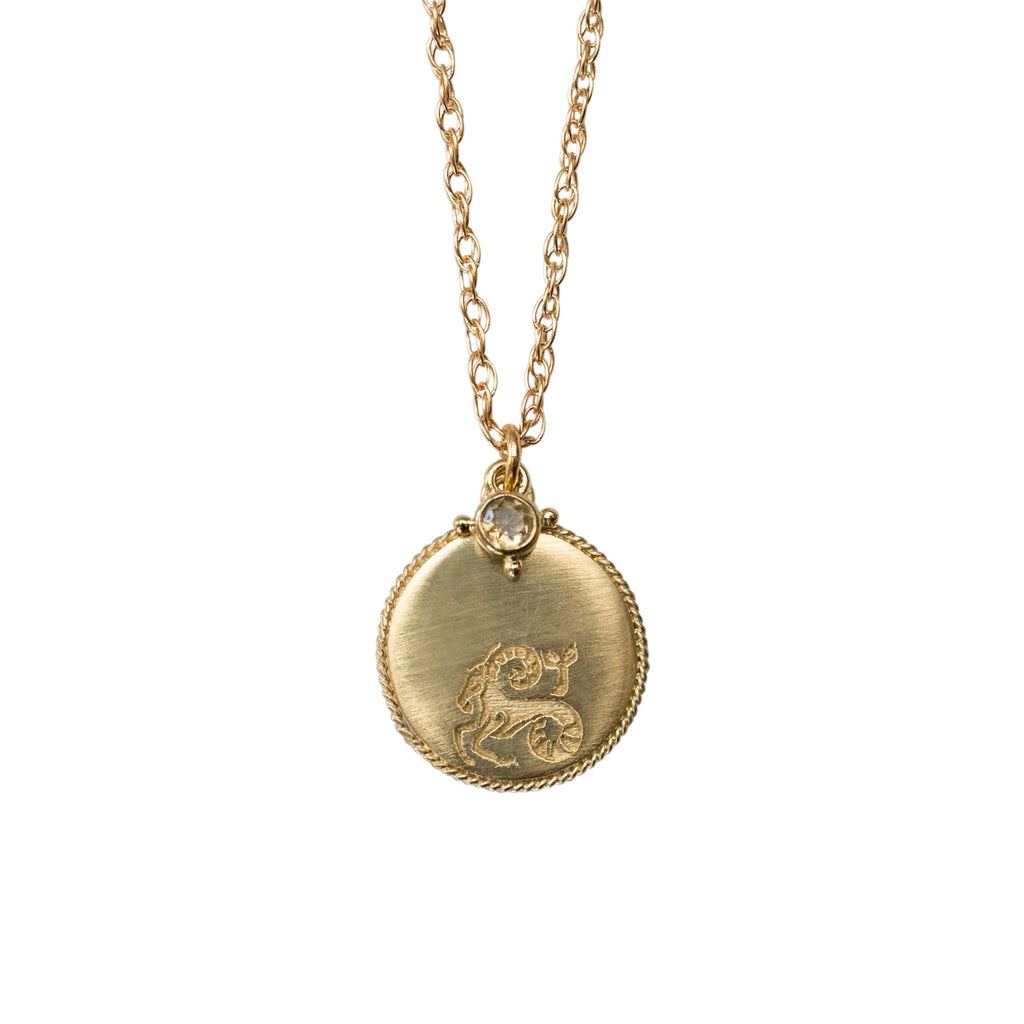 Stardust Capricorn Necklace Gold