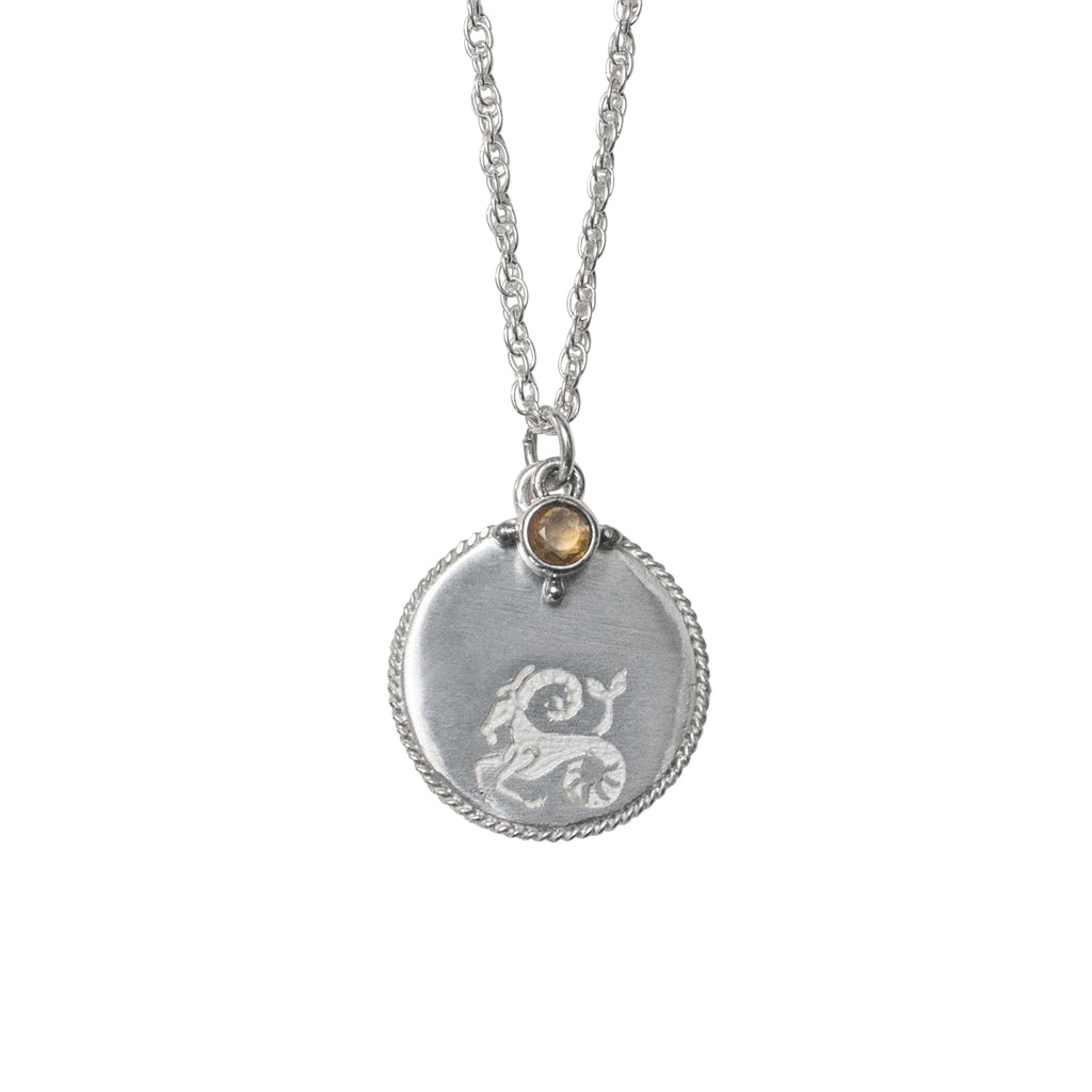 Stardust Capricorn Necklace Silver