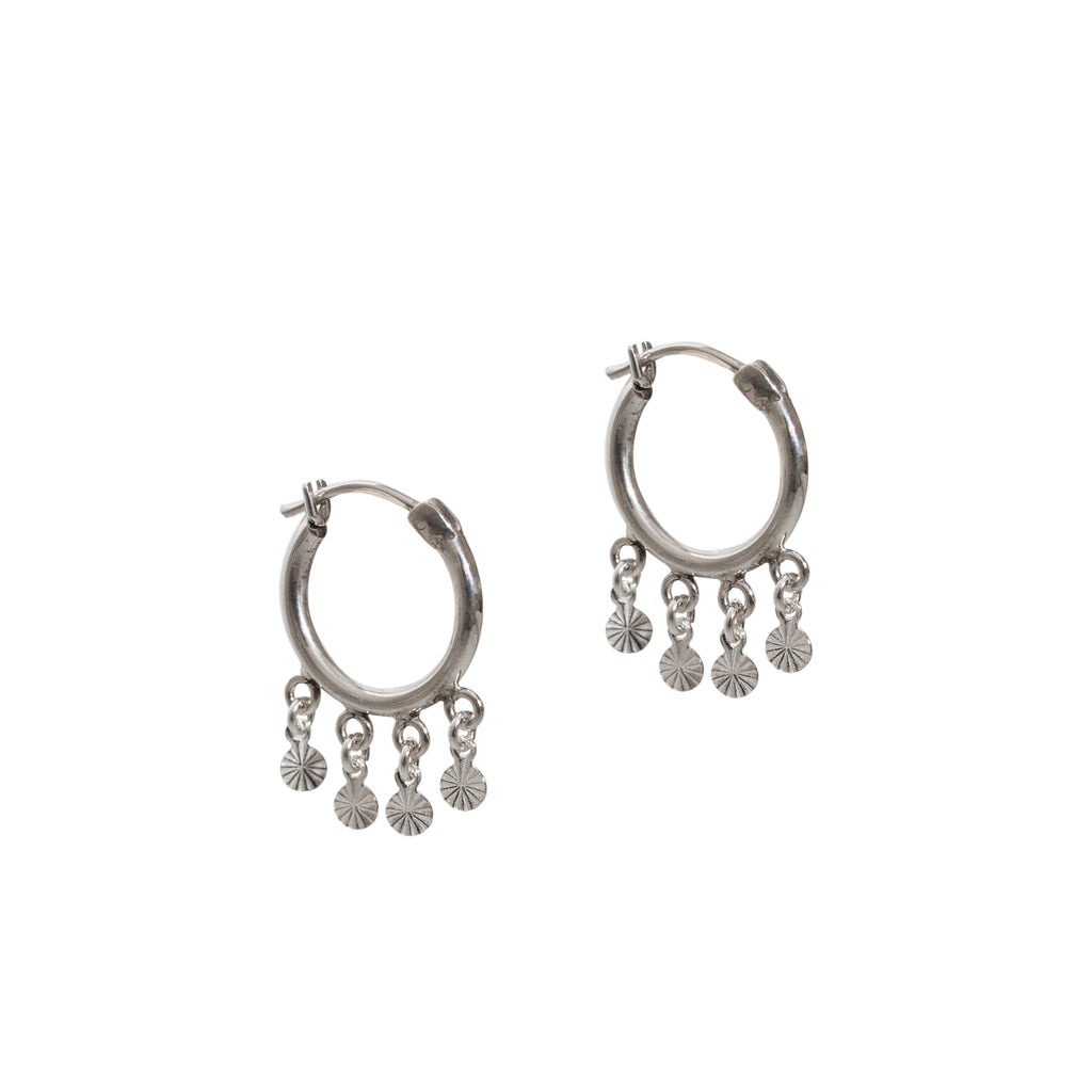 sterling silver statement hoops with details by wild heart jewellery