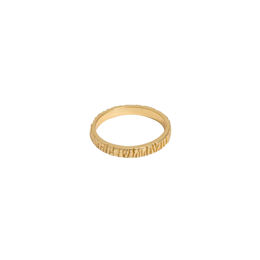Gold vermeil ring 14k - Gold stacker ring - Stevie Jean Jewellery