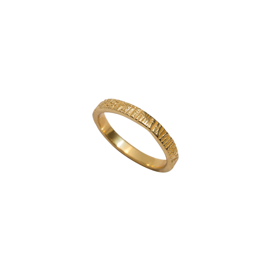 Gold vermeil ring 14k - Gold stacker ring - Stevie Jean Jewellery 1