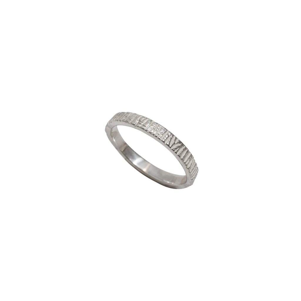 Simple sterling silver rings - The Dune Ring - Stevie Jean Jewellery 1