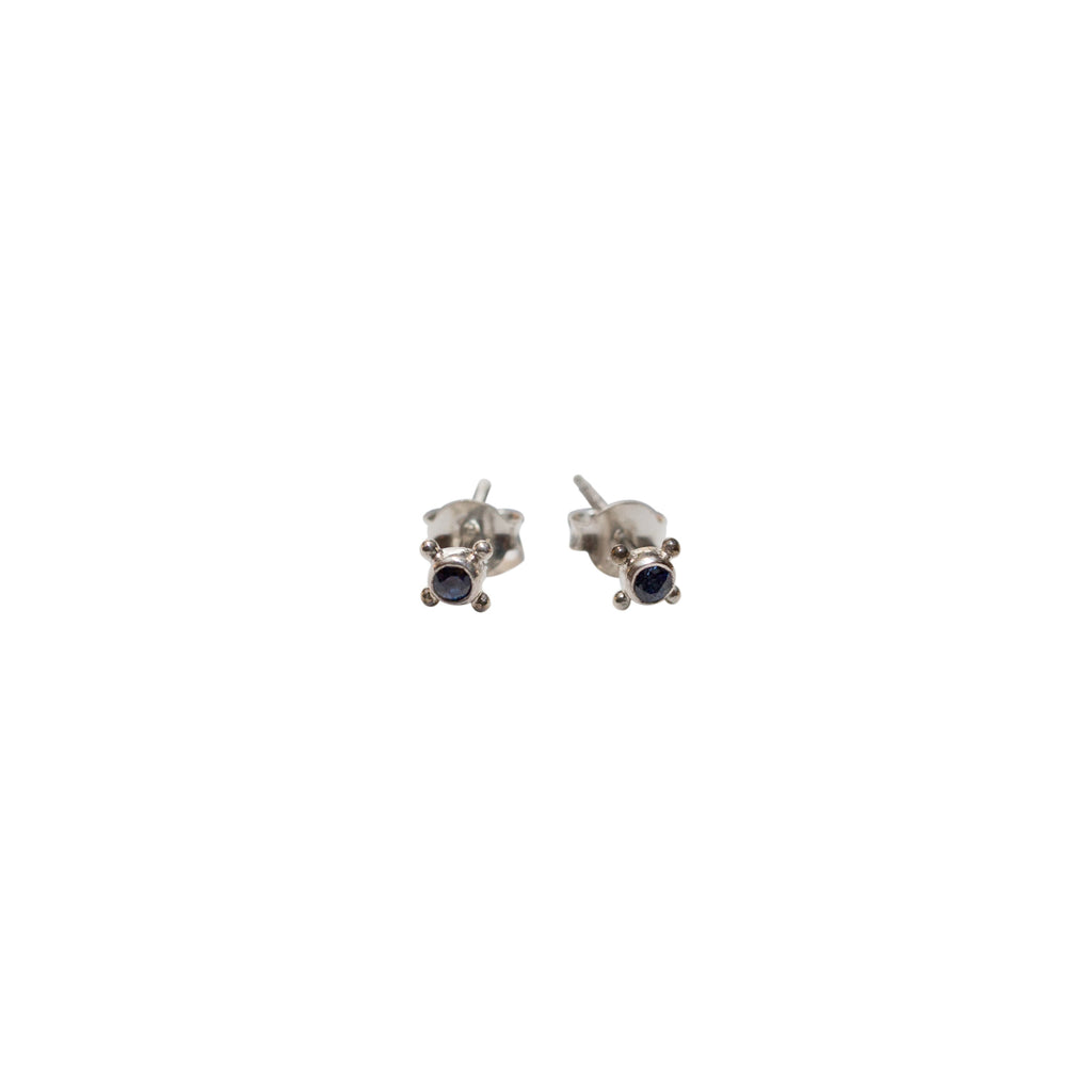 Relic Stud Earrings Silver