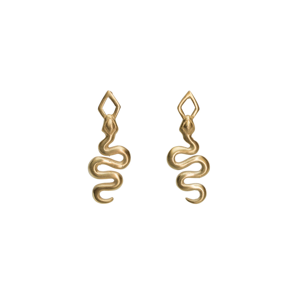 Medina Stud Earrings Gold