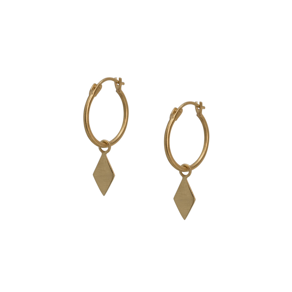 Gaia Hoop Earrings Gold