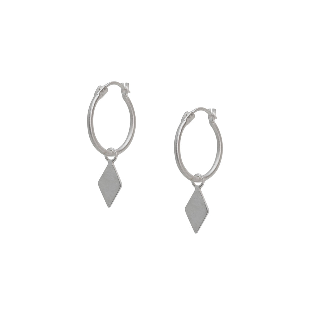 Gaia Hoop Earrings Silver