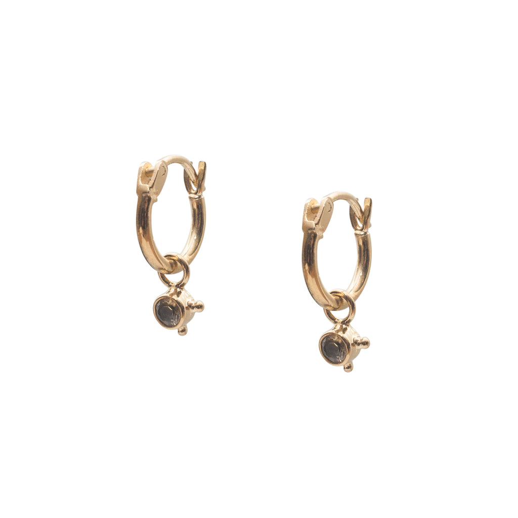 Stardust Element Hoops Earth Gold